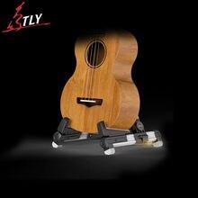 Aroma de alumínio dobrável mini guitarra ukulele suporte a-quadro suporte suporte de montagem universal para ukulele violino mandolin 4 cores