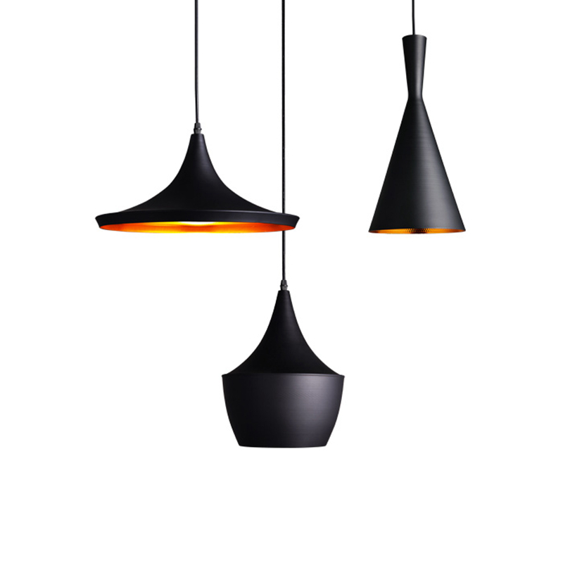 ФОТО Modern Nordic Aluminum Pendant Light drop Light E27 base black white Hanging lamp suspension musical instrument Light Fixture