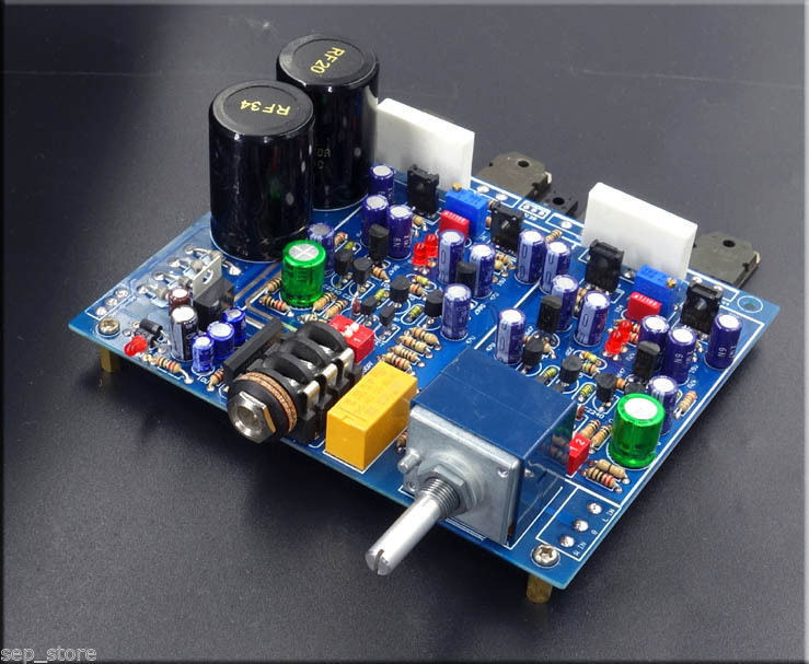 HIFI Class A FET headphone amplifier boardkit base on HA5000 with ALPS pot