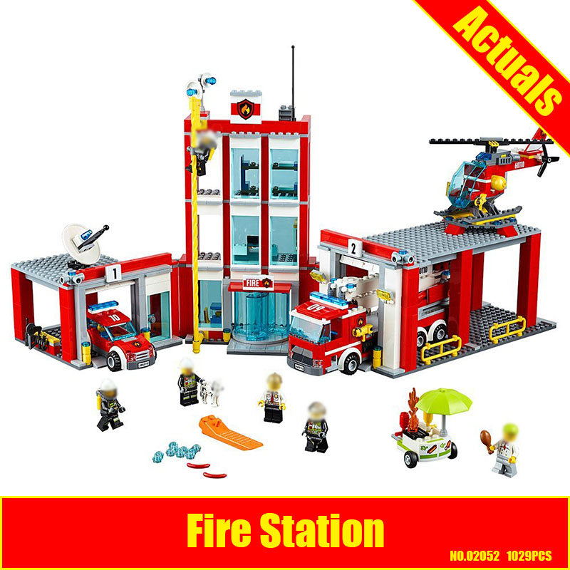 Lepin 02052 The Fire Station Set 60110 Genuine City Series 1029Pcs Building Blocks Bricks Educational Toys DIY Christmas Gift 02020 lepin new city series the new police station set children educational model building blocks bricks diy toys kid gift 60141