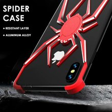 Suitable for iPhoneX XS XR XSMax 7 8plus metal spiderman shatter-resistant box protector 6plus high-grade shockproof shell