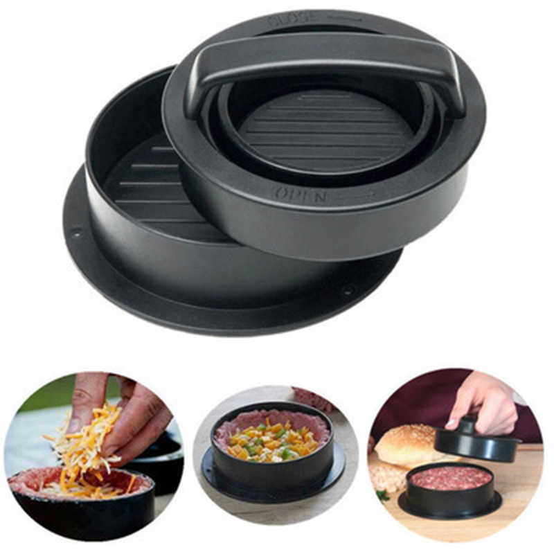 Manual Stuffed Meat Burger Press Non-Stick Round Hamburger Mold Cutlets Patty DIY Burger Meat Press Tool Kitchen Gadgets