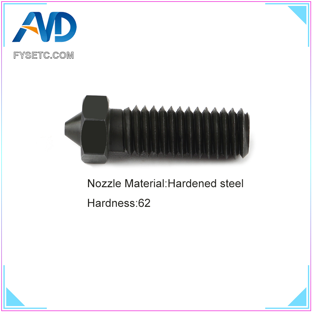 1PC Hardened Steel Volcano Nozzles For High Temperature 3D Printing PEI PEEK Carbon Fiber Filament For E3D Volcano Hotend in 3D Printer Parts Accessories from Computer Office