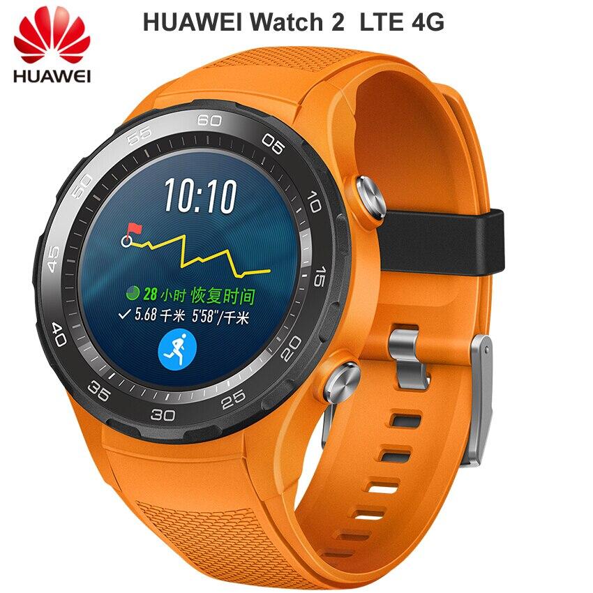 Originale Huawei Orologio 2 Astuto della vigilanza Supporto LTE 4G di Chiamata di Telefono di Frequenza Cardiaca Tracker Per Android iOS IP68 impermeabile NFC GPS