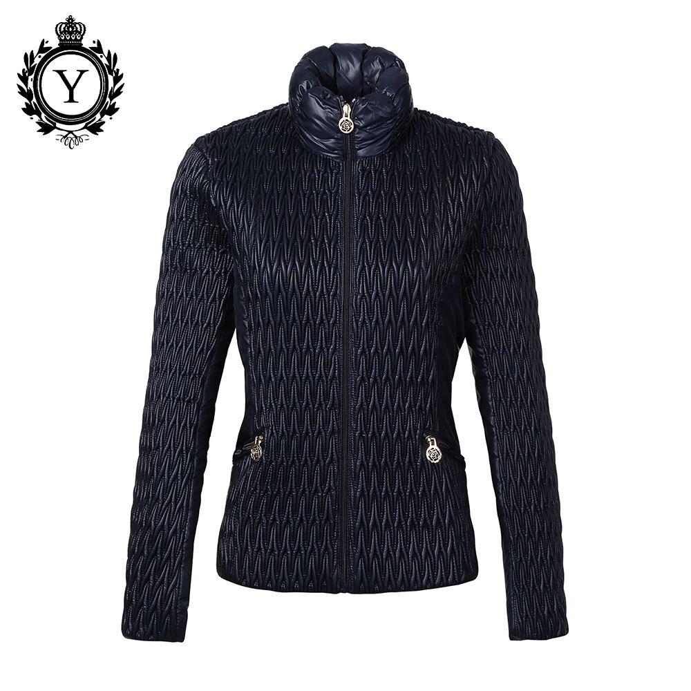 COUTUDI New Arrival Hot Women Jacket 2018 Parkas Dark Blue Winter Stylish Jackets Polyester Windbreaker High Quality Women Coat