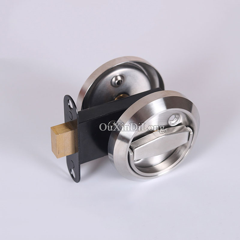 Brand New 304 Stainless steel cup handle recessed door handles cabinet invisible pull handle Fire Proof Disk Ring Lock new 2pcs lot 304 stainless steel handles hidden recessed invisible pull fire proof door handles cabinet knobs furniture hardware