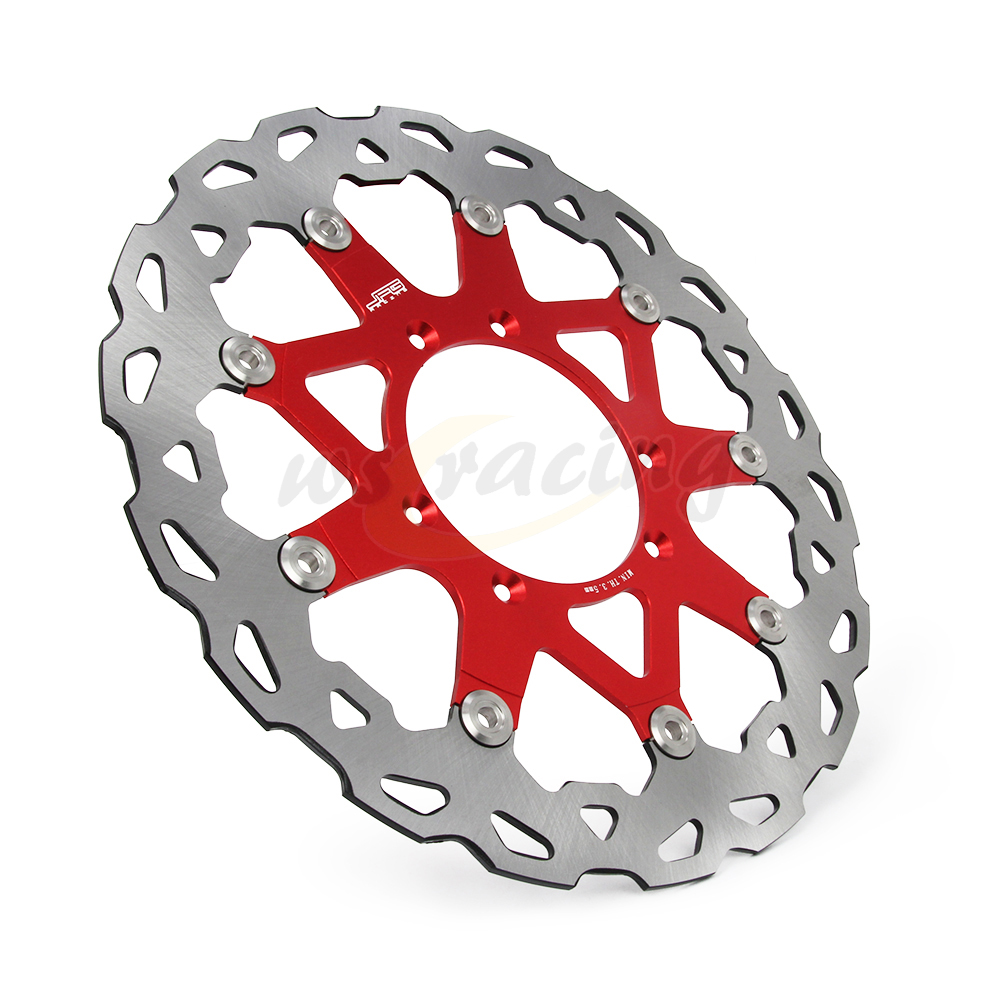 CNC 320MM Motorcycle Front Floating Brake Disc Rotor For HONDA CR125R CR125E CR250R CR250E 95-08 CR500R CR500E 95-01 CRF230 keoghs real adelin 260mm floating brake disc high quality for yamaha scooter cygnus modify