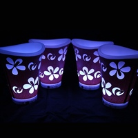 Eco Friendly Multi Functional PE Colorful LED Ice Bucket Champagne Wine Beer Luminous Cooler Flower Planter Pot for Bar 6pcs/lot