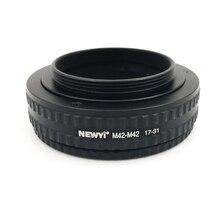 NEWYI M42 M42 جبل قابل للتعديل التركيز هيليكويد محول 17 31 مللي متر عدسة الكاميرا محول محول حلقة