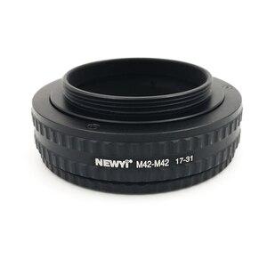 Image 1 - NEWYI M42 M42 הר מתכוונן התמקדות Helicoid מתאם 17 31Mm מצלמה עדשת ממיר מתאם טבעת