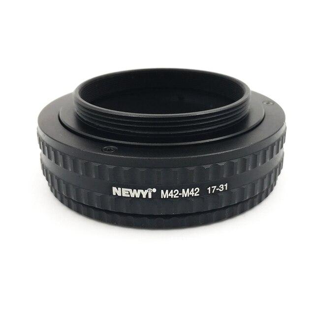 NEWYI M42 M42 הר מתכוונן התמקדות Helicoid מתאם 17 31Mm מצלמה עדשת ממיר מתאם טבעת
