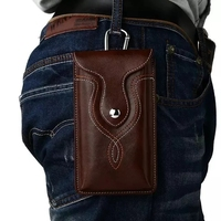 Universal Leather Waist Belt Clip Hook Loop Case Cover Bag Holster For Multi Smart Phone Smartphone