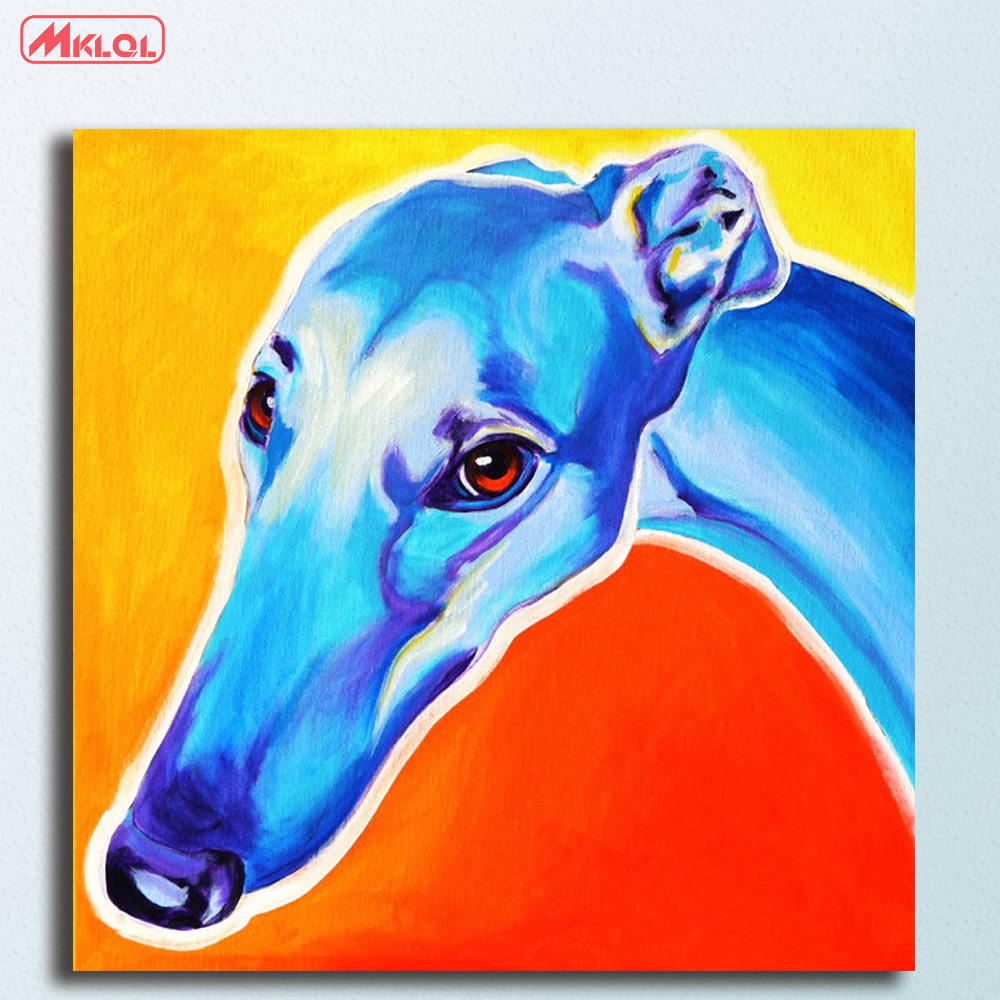 Greyhound lizzie Oil Painting Wall Art Picture Paiting Canvas Paints Home Decor Abstract Print Painting Modern Wall Decor
