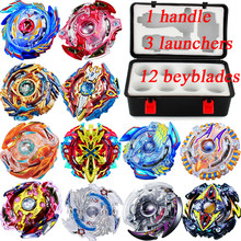 Bey blade Stadium Beyblade Set Arena Metal Fusion 4D Spinning Top bayblade blades Toys Thanksgiving Gift With Launcher Handle(China)