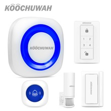 KOOCHUWAH House Alarm Systems Security Home Wireless Car Alarm System  Driveway Alarm Motion Sensor Sound Monitor for Security 58khz shoplifting deterrent security alarm systems supermarket security guard with sound and light alarm 1 set