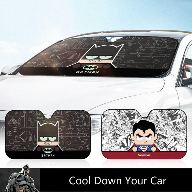 Car Windshield Sunshade Windscreen Sun Visor Cover Super Hero Auto Sun Shade Car Solar Protection For Car Window Car Accessories