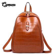 CGMANA Women Backpack 2018 High Quality Leather Backpacks For Girls Teenagers School Bag Shoulder Crocodile Large Travel