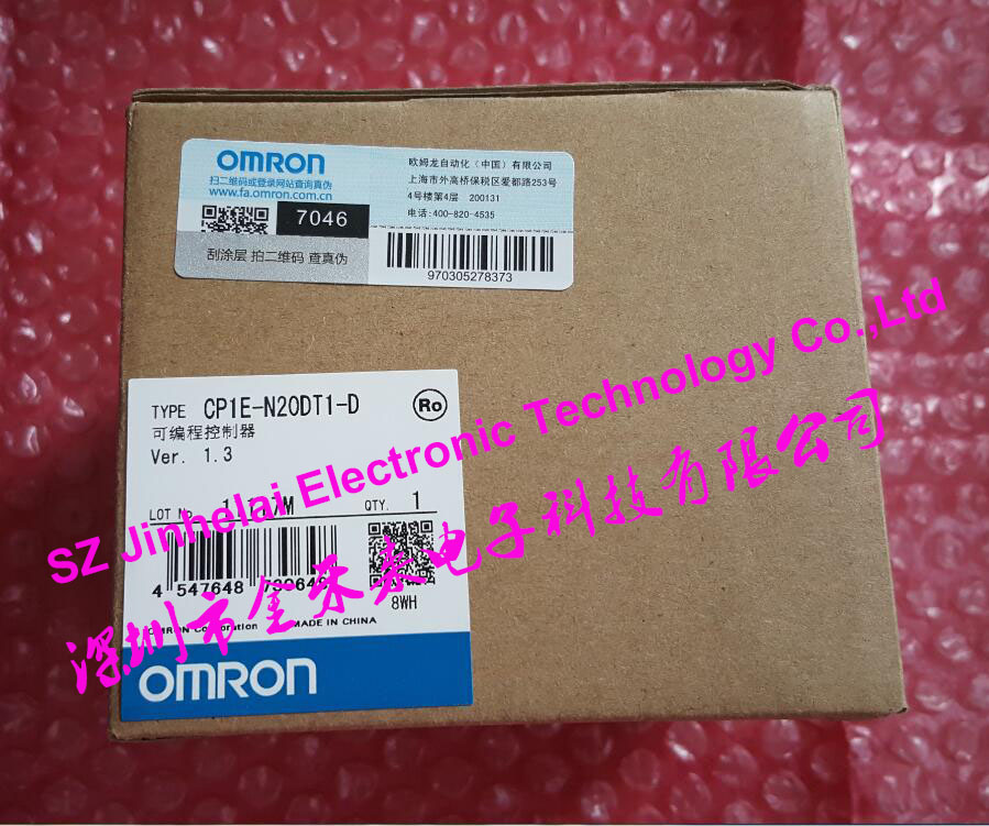 New and original CP1E-N20DT1-D  OMRON  PLC controller [zob] 100% brand new original authentic omron omron photoelectric switch e2s q23 1m 2pcs lot