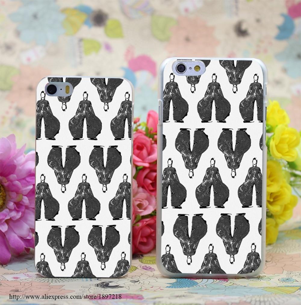 497W Bowie Pattern Bw Transparent Hard Case Cover for iphone 7 7 Plus 6 6s plus 4 4s 5 5s SE 5c