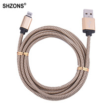 25cm 1m 2m 3m Nylon Braided USB Charging Cable Sync Data Cord for iPhone 5 5s 5c SE 6 6s 7 Plus for iPad mini Air Cable X180