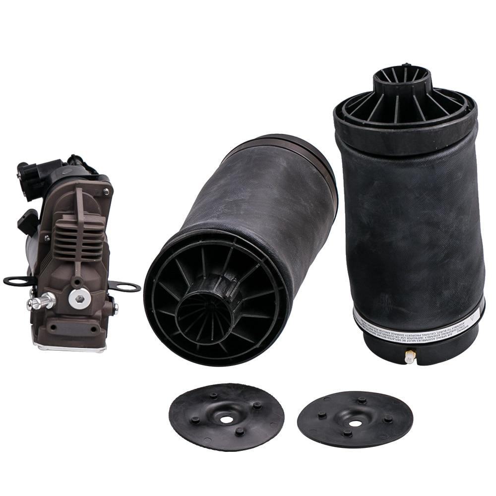 1 ensemble amortisseur pour Mercedes classe R W251 R63 AMG tous les modèles 2513203113 sac de Suspension de tour d'air avant + pompe à compresseur d'air