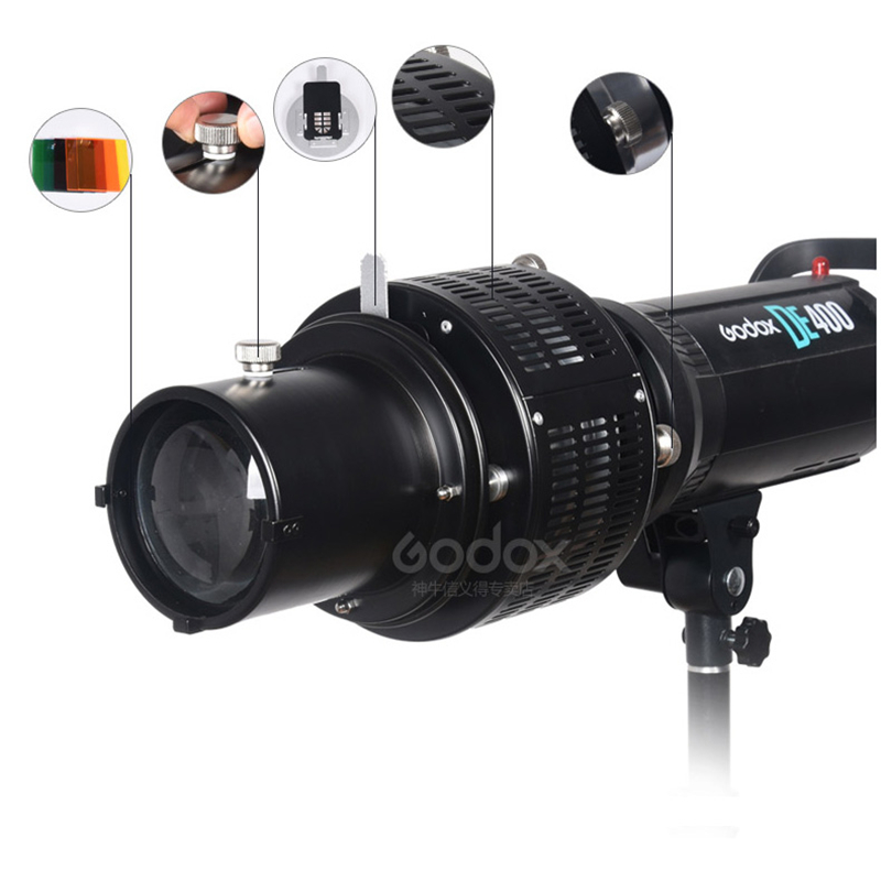 Bowens Mount Focalize Conical Snoots Photo Optical Condenser Art Special Effects Shaped Beam Light Cylinder For Godox SK400IIPhoto Studio Accessories   -