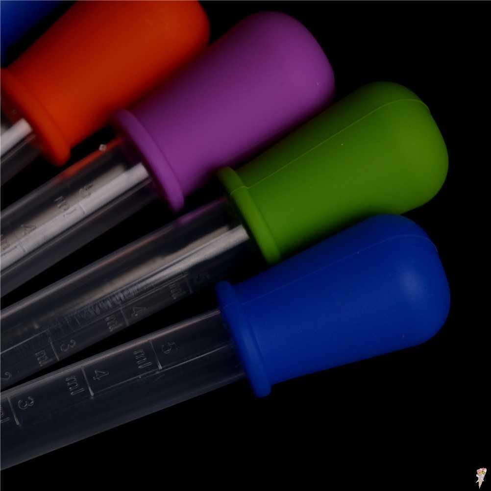 5 มิลลิลิตร 2 มิลลิลิตรซิลิโคนพลาสติกหยอดช้อน Pipette ของเหลว Dropper บิวเรต 12 เซนติเมตร * 2 เซนติเมตรสุ่มสี