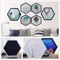 1 шт. Современная шестиугольная фоторамка Деревянная подвесная картина HolderHome украшения для спальни подарки мульти размер 6