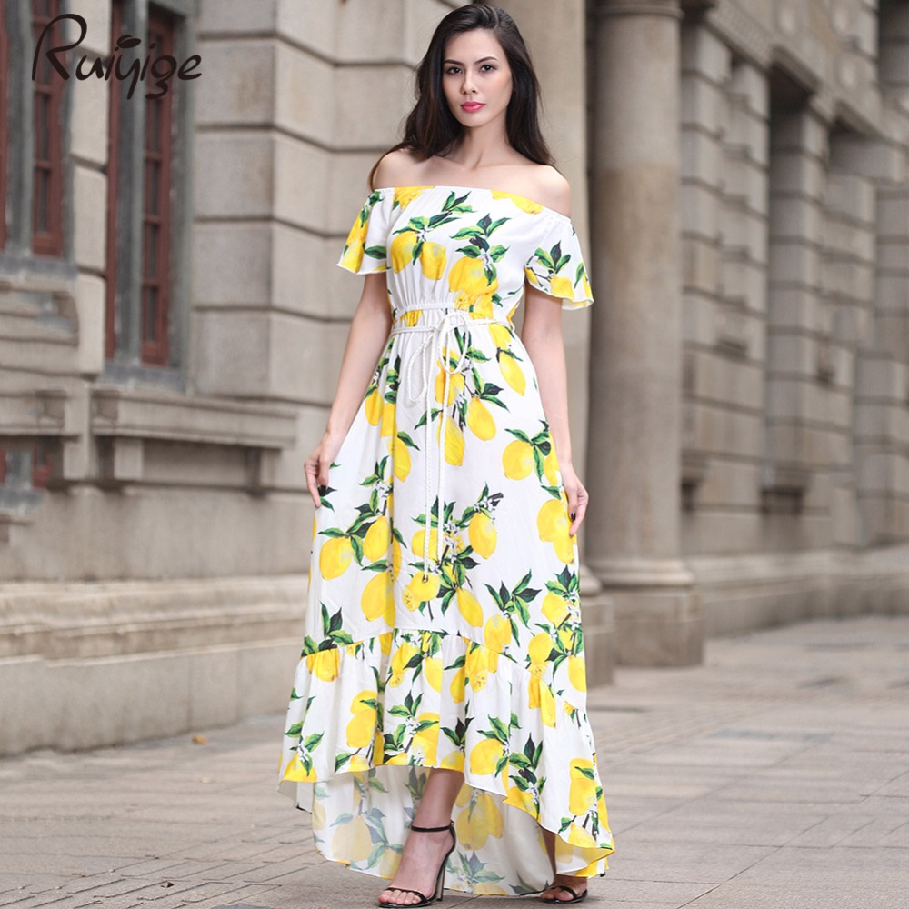 Buy Cheap New 2017 Plus Size cotton summer Women Dress Short Sleeve Casual Sexy Wide Boat Neck Vestidos Floral Print Long Maxi Dress