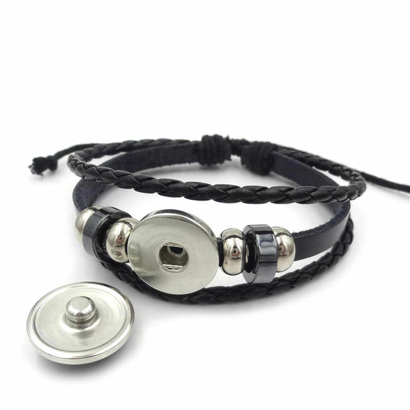 Браслеты и браслеты Топ Мода Новинка 2018 простые мужские модные браслет Наруто слои оплетенные кожаные украшения аксессуары женские