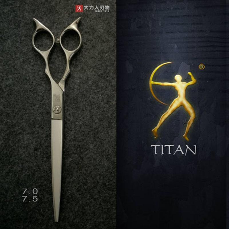 Titan forbici in acciaio inox da 7.5 pollici di grandi dimensioni strumento di preparazione dei capelli pet grooming forbici libera la nave-in Forbici per capelli da Bellezza e salute su  Gruppo 2