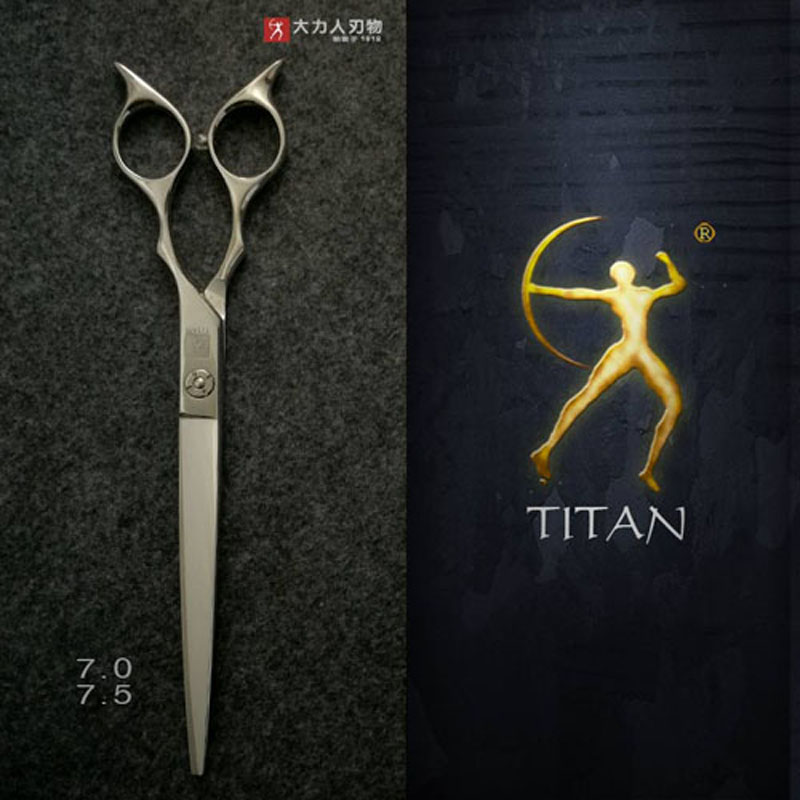 Titan stainless steel scissors 7.5 inch big size hair dressing tool pet grooming scissors free ship детская футболка классическая унисекс printio madman