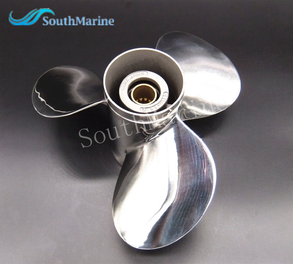 11 1 8x13 g stainless steel propeller for yamaha tohatsu for 11 1 8 x 13 g yamaha