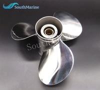 Stainless Steel Propeller For Yamaha Tohatsu Honda Mercury Suzuki 40hp 50hp Outboard Motor 11 1 8