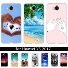 CEOTNG For Huawei Y5 2017 Mya-l22 Mya-u29 Phone Case For Huawei Y5 III Silicone Soft TPU Back Cover For Huawei Y6 2017 Case