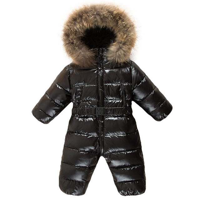 Cold Winter Children Jumpsuit Toddler Baby overalls Romper down kids boys Snowsuit warm hooded Baby Girls Costume Coveralls