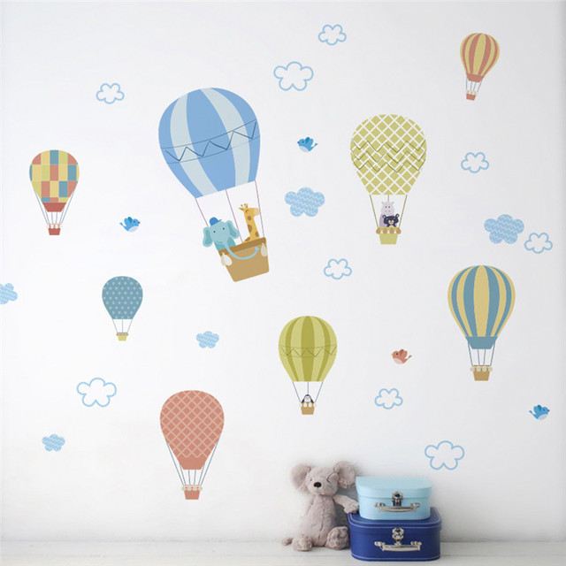 Cartoon Air Balloons Wall Sticker