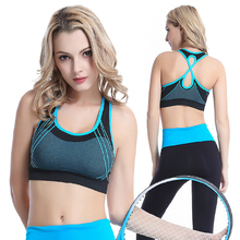 2017 Cropped Sujetador Deportivo Seamless Sports Bra Women's Gym Yoga Boxing Active High Control Support Wireless Comfort Top