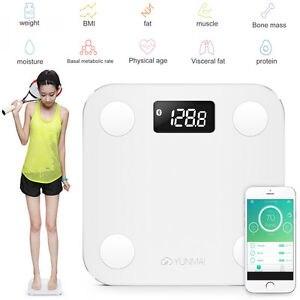 YUNMAI Mini peso inteligente báscula Digital balance BMI Bluetooth soporte iOS y Android Báscula de baño VERSIÓN INTERNACIONAL