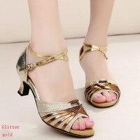 Latin Dance Shoes Women Adult High Heels Dance Shoes Dancing Shoes Friendship Square Dance Shoes Soft