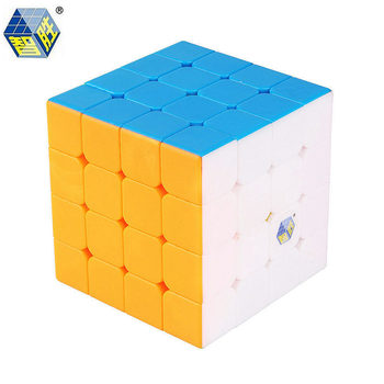 Yuxin Black Kylin 4x4x4 Magic Speed Cube Stickerless Zhisheng Professional Puzzle Cubes Educational Toys For Children mo yue guo guan yue xiao 3 3 3 black magic cubes puzzle speed rubiks cube educational toys gifts for kids children