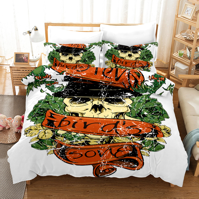 3D SKULL THEMED BEDDING SETS (5 VARIAN)