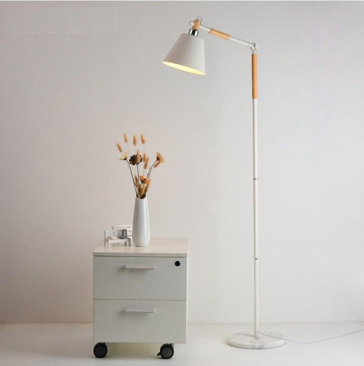 Lampen & Schirme Licht & Beleuchtung Gehorsam Schweden Design 175 Cm Stehleuchte Mit Einstellbare Holz Arm Eisen Stem Und Marmor