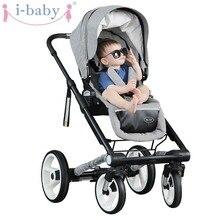 i baby Luxury MY VIP Baby Stroller High Landscape Portable Lightweight Foldable Baby Pram Pushchairs Kinderwagen