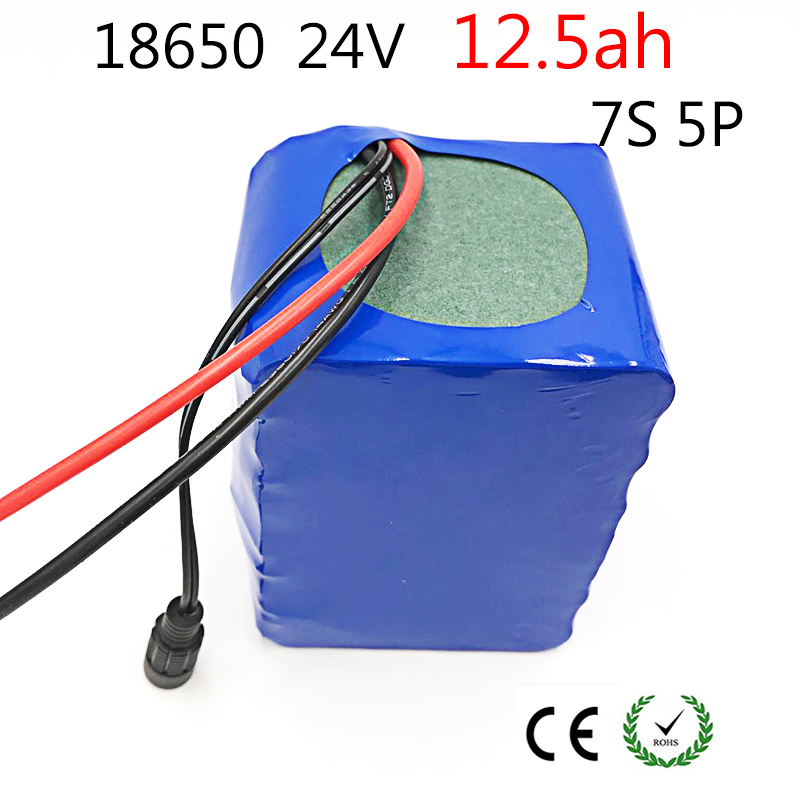 Laudation 24V 12.5ah Electric bicycle Lithium Ion Battery 29.4V 12500mAh 15A BMS 250W 350W 18650 Battery Pack Wheelchair Motor 24v 10 ah 6s5p 18650 battery lithium battery 24 v electric bicycle moped electric li ion battery pack