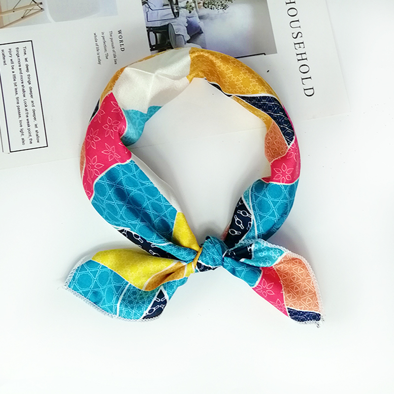 HTB1bKkmeRGw3KVjSZFwq6zQ2FXa9 - new style Square Scarf Hair Tie Band For Business Party Women Elegant Small Vintage Skinny Retro Head Neck Silk Satin Scarf