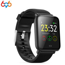 696 Smart Bracelet 1.3 Inch TFT HD Blood Pressure Oxygen Heart Rate Monitor Multi-Sports Mode Fitness Bluetooth Wristband PK ban(China)
