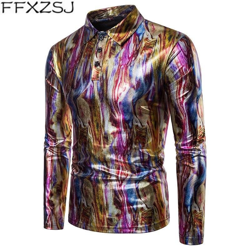 FFXZSJ Brand   Polo   Shirt Men Autumn New Fashion High Quality Men Long Sleeve Cotton Colorful   Polo   Shirt   Polo   Homme Plus Size