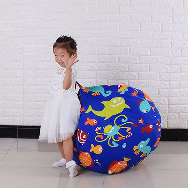 Interesting Stuffable Animal Toys Storage Bean Bag Comfortable Stuffed Children Plush Toy Organizer Creative Chair for Kids ...