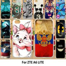 Anunob Case For ZTE Blade A6 Lite Cases Silicone TPU Covers Painted Fl